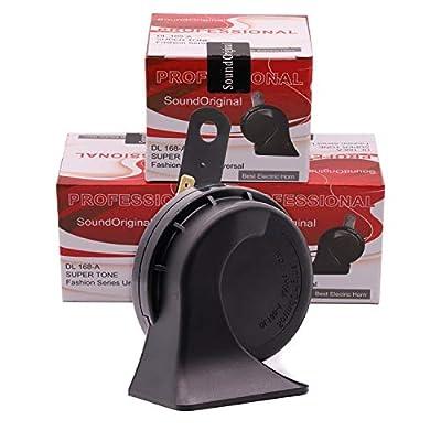 SoundOriginal DL168-A 500Hz Loud One Car Hron 12 Volt High Tone Horn Electric Horn for Golf Truck Car Motorcycle etc. (Black): Automotive