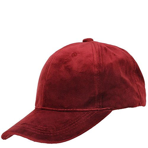 Wilsons Leather Womens Velvet Baseball Hat Burgundy