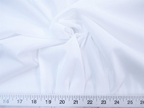 Yard Fabric 108 inch Wide Aerial Silks Acrobatic Dance Stretch Tricot White TR14