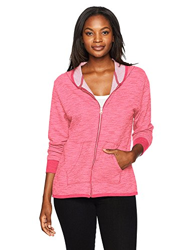 (Hanes Women's French Terry Full Zip Hoodie, deep Raspberry Heather Large)