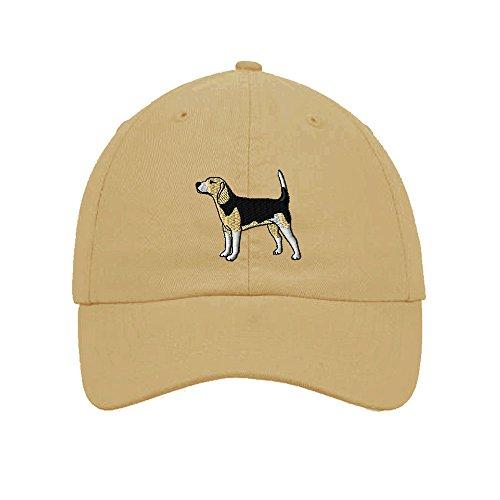 Speedy Pros Beagle Dogs Pets Embroidery Twill Cotton 6 Panel Low Profile Hat Khaki -  CAPSFANMDG0064_K