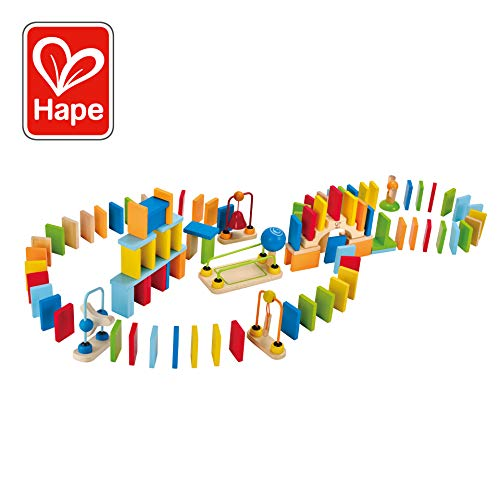 Dominoes Wood Set - Award Winning Hape Dynamo Kid's Wooden Domino Set