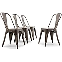 Belleze Set of (4) Bistro Cafe Style Side Chair High...