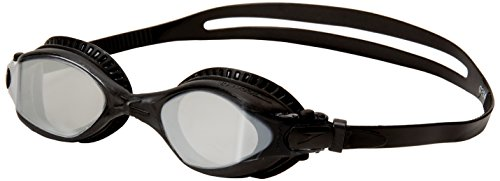 Speedo Bullet Mirrored Swim Goggle, Black/Black/Silver