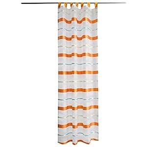Indes Fuggerhaus Polyester Orange 140 x 255 cm Amoroso Single Panel Curtain