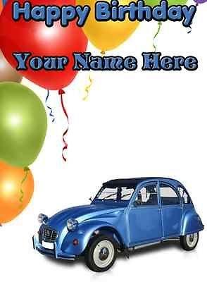 Personalised Citroen Car Birthday Card Amazon Co