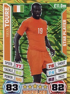 Match Attax England World Cup 2014 Yaya Toure Star Player ...