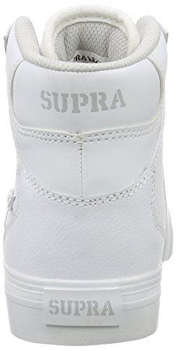 Supra Kids Unisex Vaider Sneaker Wit Leer