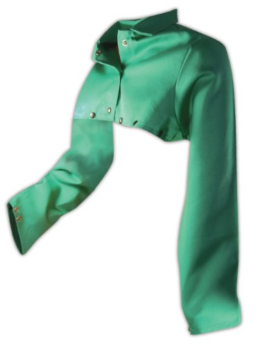 Magid Safety SparkGuard 1855S FR Cape Sleeve | ASTM D6413 Compliant Flame Resistant Cape Sleeve with an Adjustable Snap Wrist Closure - Green, 2XL (1 (Green Flames Snap)