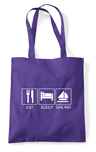 Funny Purple Tiles Activity Bag Hobby Sailing Shopper Tote Sleep Eat qHZtnAOZ