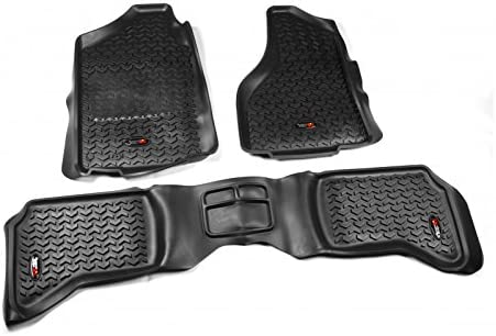 2500 and 3500 Models Rugged Ridge All-Terrain 83989.42 Tan Front and Rear Floor Liner Kit For Select Dodge Ram Ram 1500