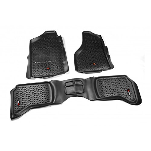 - Rugged Ridge All-Terrain 82989.40 Black Front and Rear Floor Liner Kit For 2002-2014 Dodge Ram, Ram 1500, 2500 and 3500 Quad Cab Models