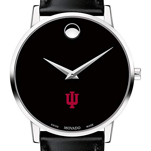 (M. LA HART Indiana University Men's Movado Museum with Leather Strap)
