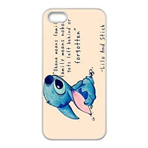 Lilo & Stitch Ohana Design Case for iPhone 5s,Cover for iPhone 5s,Case for iPhone 5,Hard Case Protector for iPhone 5/5s