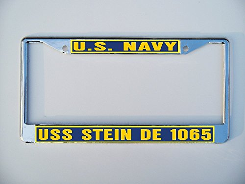 Uss Marvin Shields (USS MARVIN SHIELDS DE 1066 License Plate Frame Metal or Plastic B1)