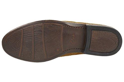Clarks Delsin Limit Tan leath Men's Business leather shoes brown braun