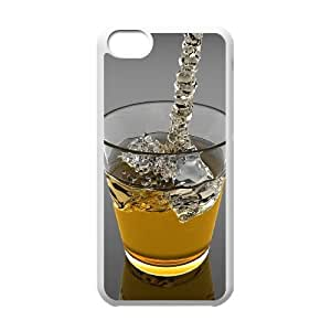 Okaycosama Funny IPhone 5C Cases Drinks 03 for Guys, Case for Iphone 5c for Girls, {White}