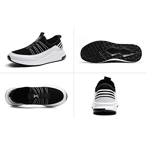 Men's Shoes Feifei Spring and Autumn Movement Fashion Leisure Breathable Running Shoes 2 Colours (Color : White, Size : EU43/UK9/CN44)