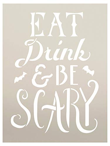 Hand Drawn Eat, Drink, and Be Scary Halloween Stencil - 9