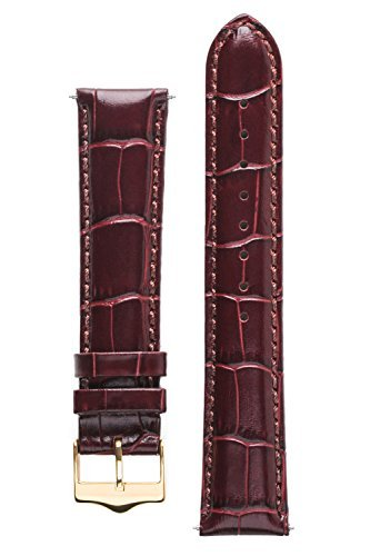 Signature Senator in cognac 14 mm watch band. Replacement watch strap. Genuine Leather. Gold buckle.
