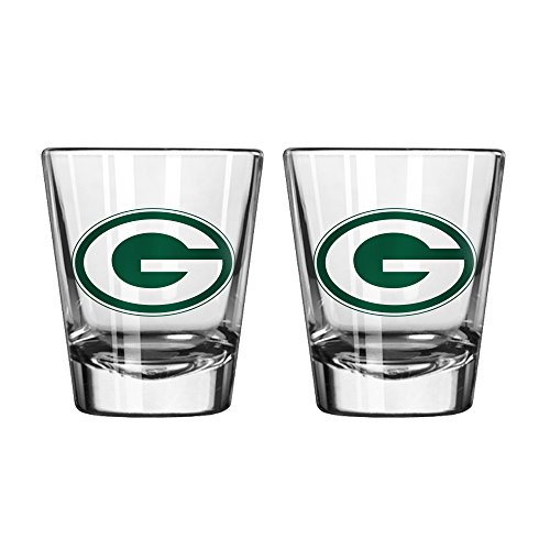 NFL Green Bay Packers Game Day Shot Glass, 2-ounce, 2-Pack