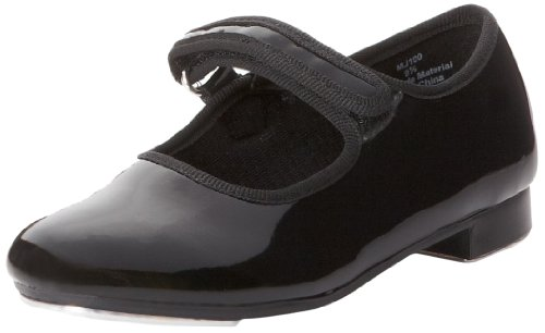 Dance Class Mary Jane Tap Shoe (Toddler/Little Kid), Black Patent, 10.5 M US Little Kid (Childs Tap Shoes)