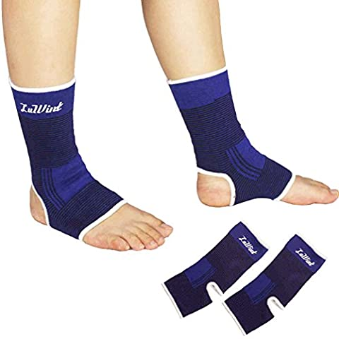 Luwint Compression Breathable Ankle Brace - Ankle Support Socks for Running Basketball Strain Sprain Arthritis, 1 Pair, Youth Adult (Scratch Golf Game Gear)