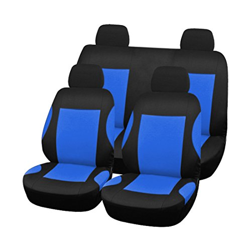 uxcell 8pcs Styling Auto Interior Accessories Car Seat Cover full set Blue (Chevy Impala 2007 Accessories compare prices)