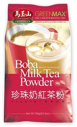 Greenmax - Boba Milk Tea Powder- Black Tea Flavor(24.5 Oz) + Green Tea Flavor (24.5 Oz)