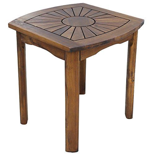 International Caravan VF-4135-IC Furniture Piece Sun Burst Square/Round Side Table