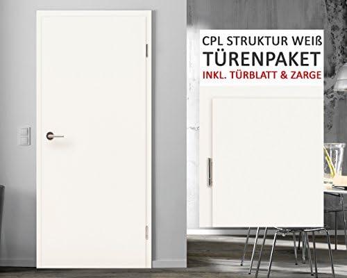 CPL habitaciones puertas puertas interiores del paquete estructura color blanco 3 – 11 Elementos Puerta hojas + zarge grosor de la pared 8 – 29 cm: Amazon.es: Bricolaje y herramientas