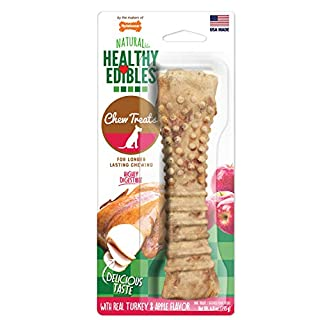 Nylabone Healthy Edibles All-Natural Long Lasting Turkey & Apple Dog Chew Treats Turkey & Apple Flavor Souper - 50+ lbs.