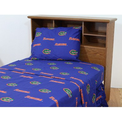 Florida Printed Sheet Set Twin - Solid by College ()