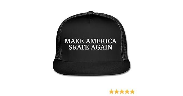 db717b9bad6d1b Amazon.com  Spreadshirt Make America Skate Again Funny Slogan Trucker Cap