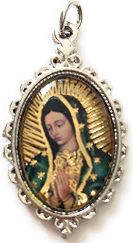 Divine Mercy - Virgin mary of Guadalupe Medal Pendant Charm. Medalla Divina Misericordia - Virgen de (Mercy Charm)