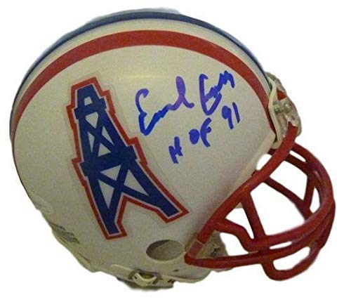 Fanatics Authentic Certified Earl Campbell Houston Oilers Autographed Riddell Pro-Line Authentic Helmet with HOF 91 Inscription