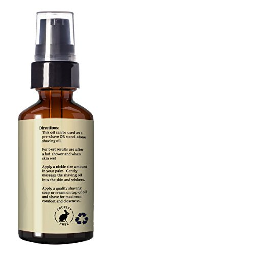 Best Pre-Shave Oil, Sandalwood, Premium Shaving Oil for Effortless Smooth Irritation-free Shave. 1 Oz