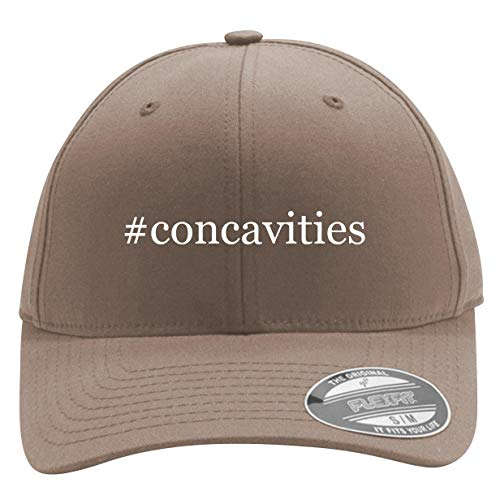 #Concavities - Men's Hashtag Flexfit Baseball Cap Hat, Khaki, Small/Medium