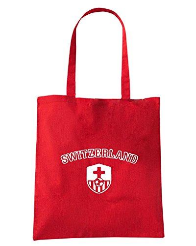 T-Shirtshock - Bolsa para la compra WC1249 Swiss National Maglietta Rojo