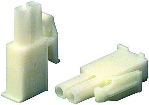 2 Positions Connector Housing Pack of 100 4.14 mm, Mini Universal MATE-N-LOK Series 172336-1 Plug