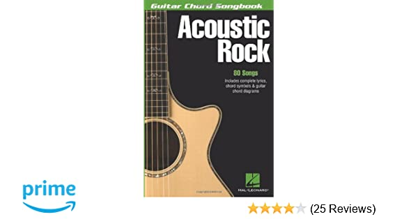 Amazon Acoustic Rock Guitar Chord Songbook 6 Inch X 9 Inch