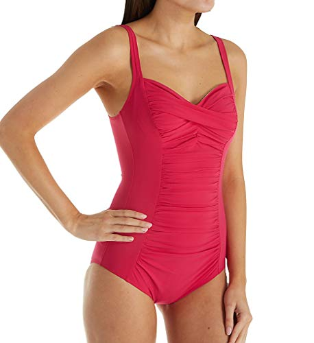 Anita One Piece Swimsuit - Anita Palm Springs Michelle Wire Free One Piece Swimsuit (7303) 36F/Magenta