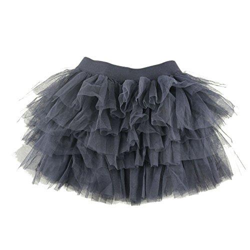 Wennikids Baby Girl's Dance Pettiskrits Chiffon Pettiskirt Tutu Large Black]()
