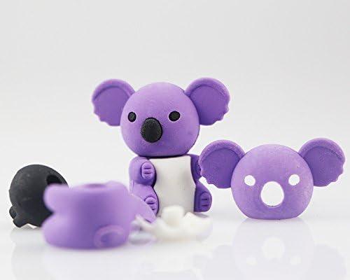 Jesica Cute Koala Bear形状リムーバブル鉛筆消しゴム学校ひな形–ランダムカラー