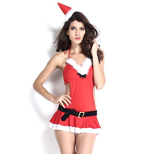[Slocyclub Novelties Women Sweet Miss Santa Suit Halloween Costume] (Halloween Costumes Ideas For Guys With Beards)