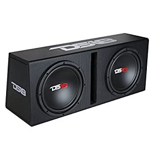 "DS18 BPX210A 1200 Watts Complete Bass Package with Double 10"" Sub MDF Enclosure"