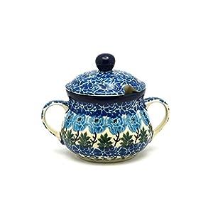 Polish Pottery Sugar Bowl – Antique Rose