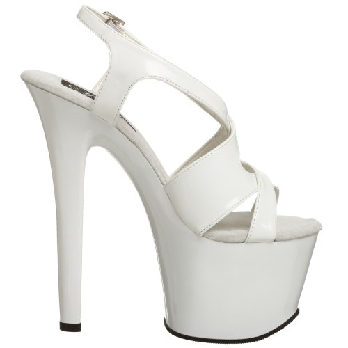 330 EU Sandales Femme 44 Pleaser Sky Plateforme Weiß Blanc Wht UxaHRn6q