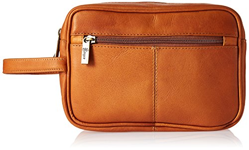 Royce Leather Men's Colombian Leather Travel Toiletry Bag, Tan by Royce Leather