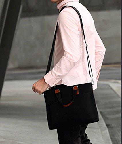 Ayer Business Pack Hombre Maletín Hombre Bolso Messenger Bag Bolsa De Hombro Cruz CoffeeColor